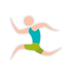 Avatar action move sport fitness icon vector