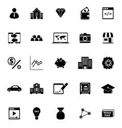Passive income icons on white background vector