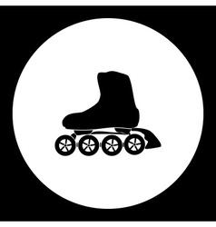 Roller skates sport black simple icon eps10 vector