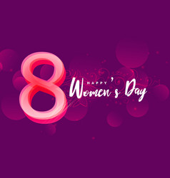 International happy womans day creative design vector