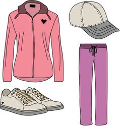 Sport suits for women vector