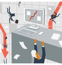 The international economic crisis vector image