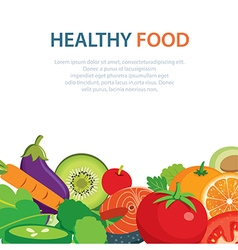 Healthy and clean food concept flat design vector