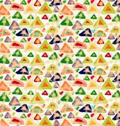 Rough brush colored triangles with stains vector