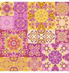 Seamless patchwork tile with victorian vector