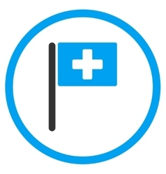 Hospital flag rounded icon vector