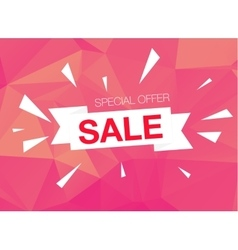 Super sale special offer banner on pink background vector