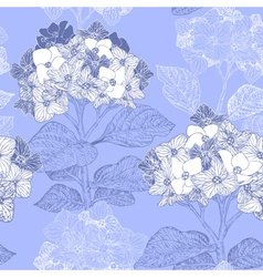Vintage Floral Seamless Background with Hydrangeas vector image