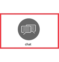 Chat contour outline icon vector