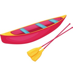 Red and yellow canoe vector