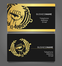 business card for a gym vector image