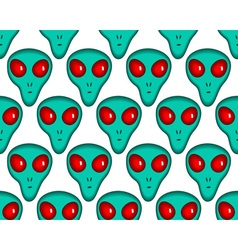 Cartoon alien pattern vector