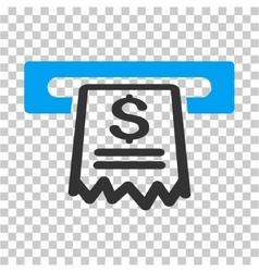 Cashier receipt icon vector