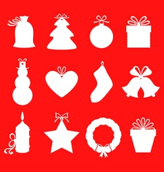 Gift label red vector