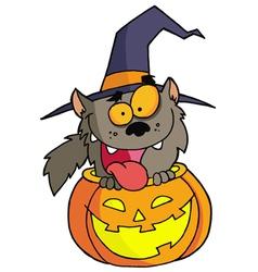 Halloween werewolf vector