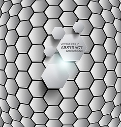 hexagon background 2 vector image vector image