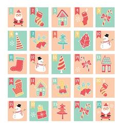 Merry christmas 25 days windows pastel vector