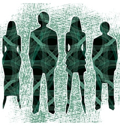 network people vector image vector image
