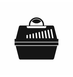 Portable cage for pets icon simple style vector