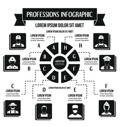 Professions infographic concept simple style vector