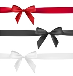 red black and white bow vector image