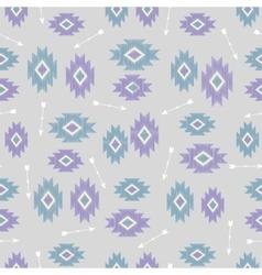 seamless ikat tribal pattern vector image vector image