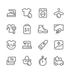 Set line icons of laundry vector image vector image