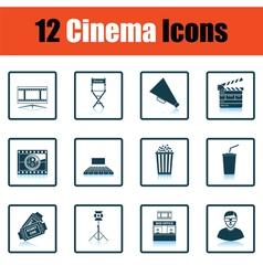 Set of cinema icons vector image