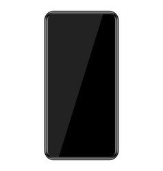 smartphone with infinity display vector image vector image