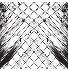 Striped chaos wooden vector