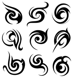 Tribal art shapes vector