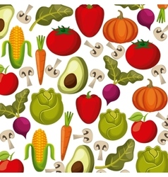 vegetables background design vector image