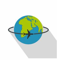 worldwide icon flat style vector image