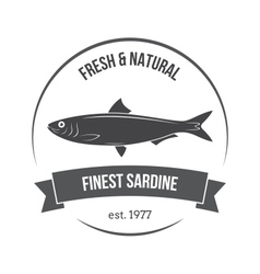 Sardine emblem vector