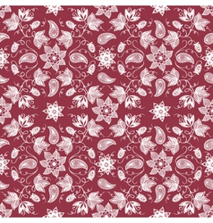 Cultural floral patterns vector