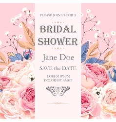 Bridal shower invitation vector image