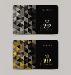 Vip golden and platinum card template vector