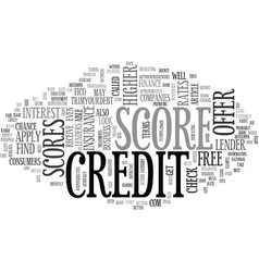 What does my credit score mean text word cloud vector
