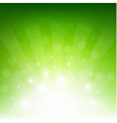 Green sunburst eco background vector