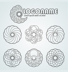 collection of abstract logo design set of black vector image