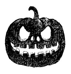 Carving pumpkin vector
