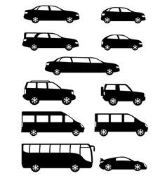 set of cars for the transportation of passengers vector image