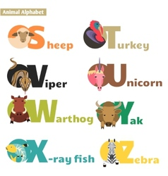 Animal alphabet 4 vector