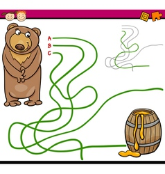 Path or maze cartoon game vector