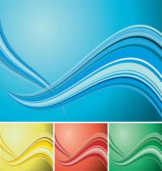 Quad wave background vector