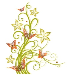Flowers autumn fall vector image