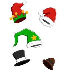 set christmas carnival cap vector image
