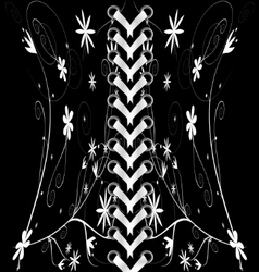 Black-white lacing vector
