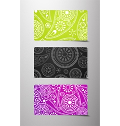 Set of flower cards vector