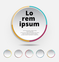 abstract 3d circle label colorful border with a vector image